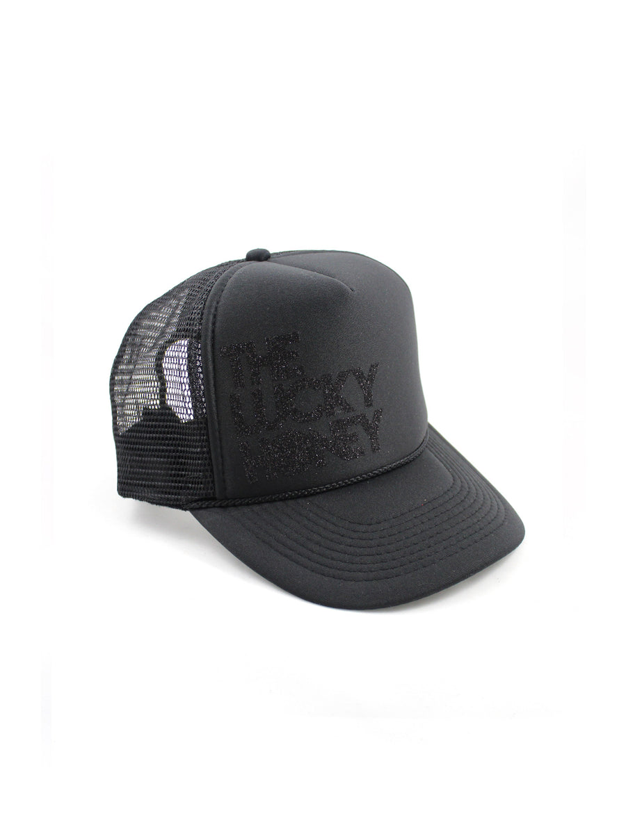 Youth THE LUCKY HONEY Hat | Black/Black Glitter