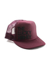 THE LUCKY HONEY Hat | Merlot/Black Glitter