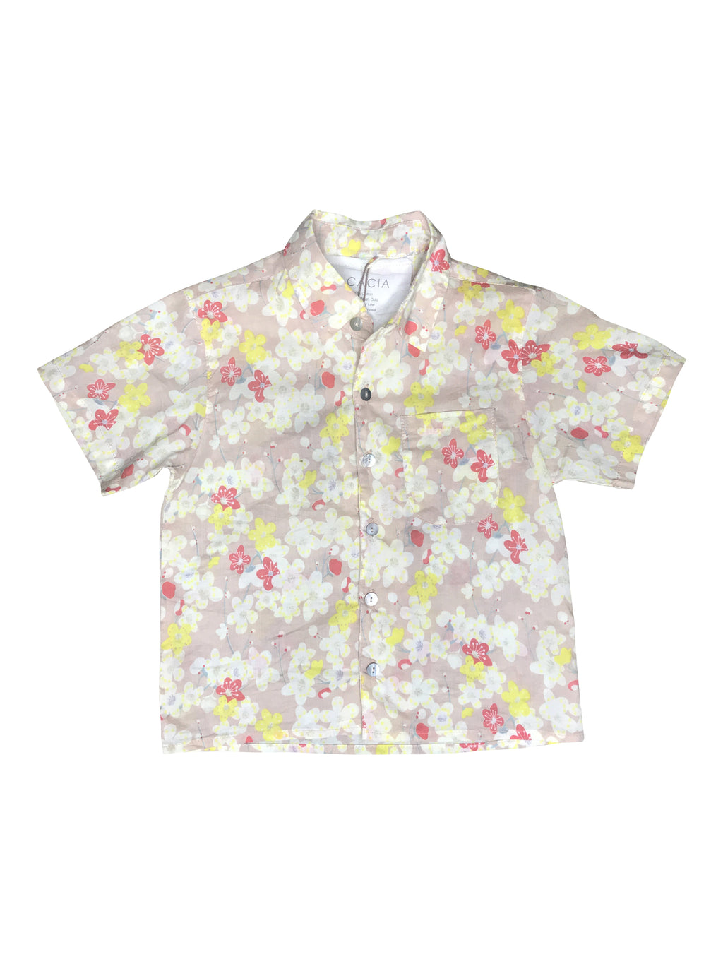 ACACIA KIDS Aloha Shirt | Cherry