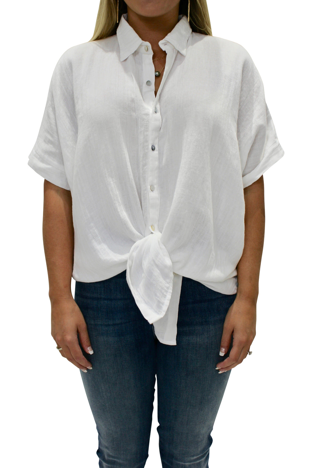 ACACIA Mombasa Button Up | White Wash