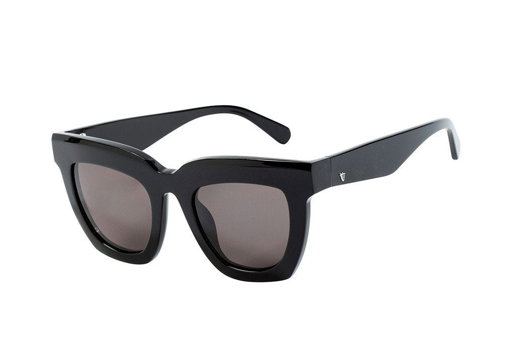 VALLEY EYEWEAR LUDLOW | Gloss Black / Black Lens