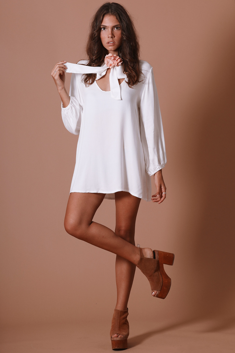 SUGARHIGH LOVESTONED Marianne Dress | Cream