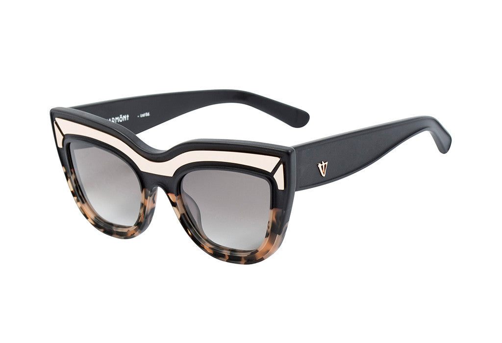 VALLEY EYEWEAR Marmont LTD | Matte Black to Peach Tort / Black Gradient Lens