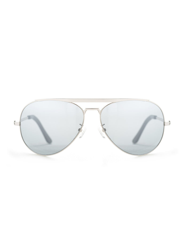 VALLEY EYEWEAR Marshall | Silver Metal / Silver Mirror Lens