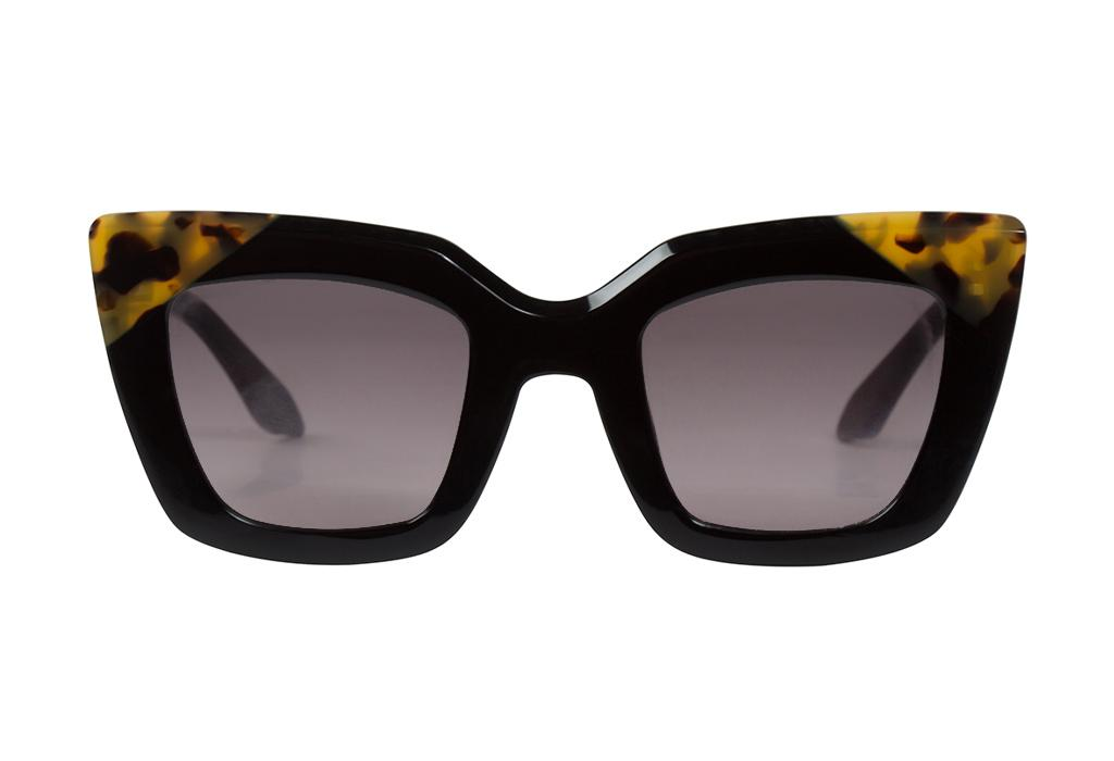 VALLEY EYEWEAR Brigada | Gloss Black/Tort Corners w/ Black Gradient Lens