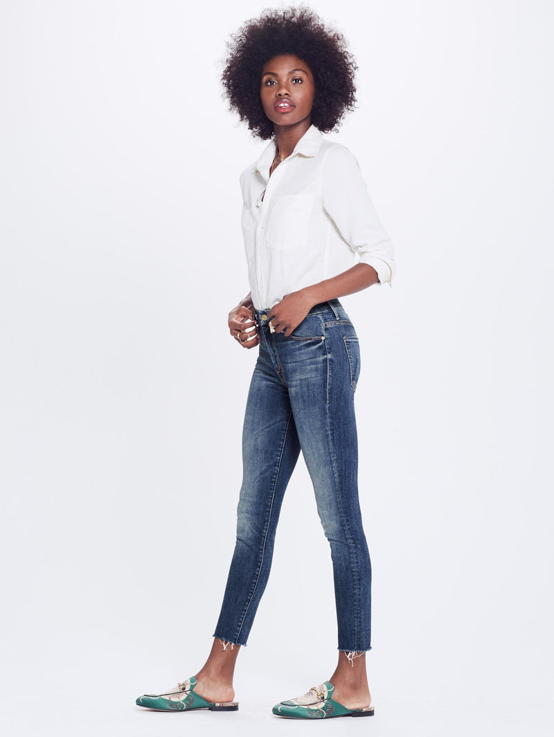 MOTHER High Waisted Looker Ankle Fray | Not Rough Enough