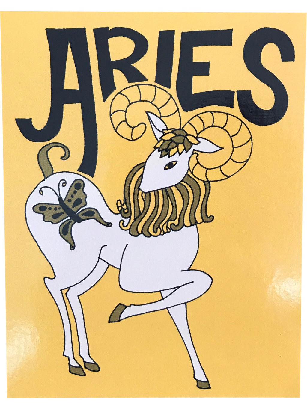 SUGARHIGH LOVESTONED Zodiac Postcard | Aries