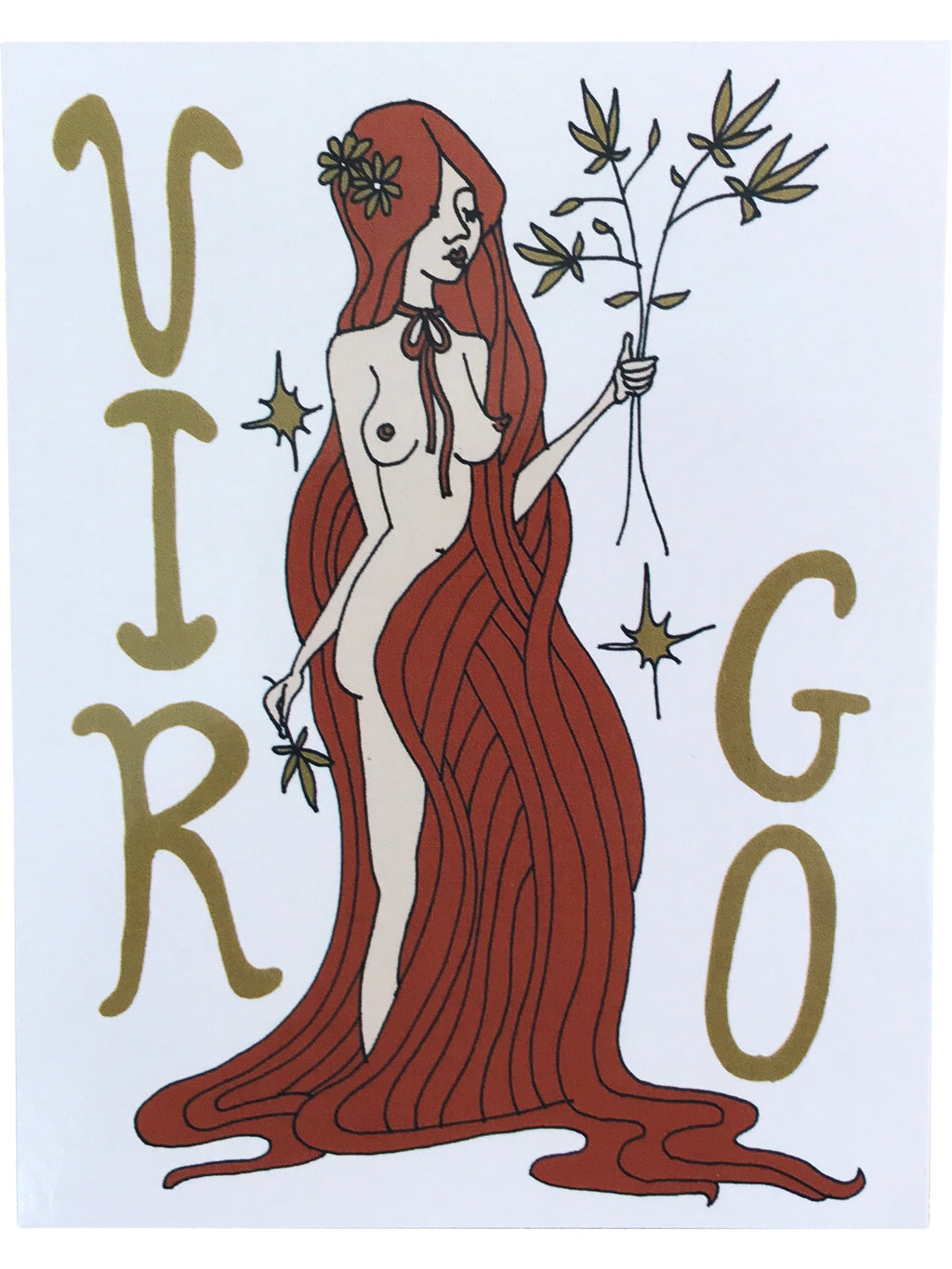 SUGARHIGH LOVESTONED Zodiac Postcard | Virgo