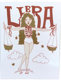 SUGARHIGH LOVESTONED Zodiac Postcard | Libra
