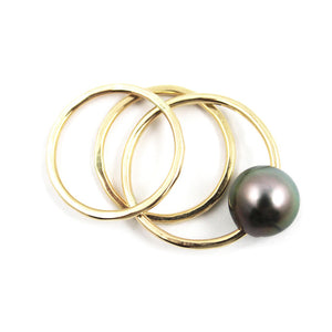 Free to Be Me Jewelry TAHITIAN PEARL Stack Ring Set