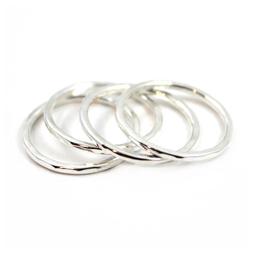 Free to Be Me Jewelry HAMMERED Stack Rings
