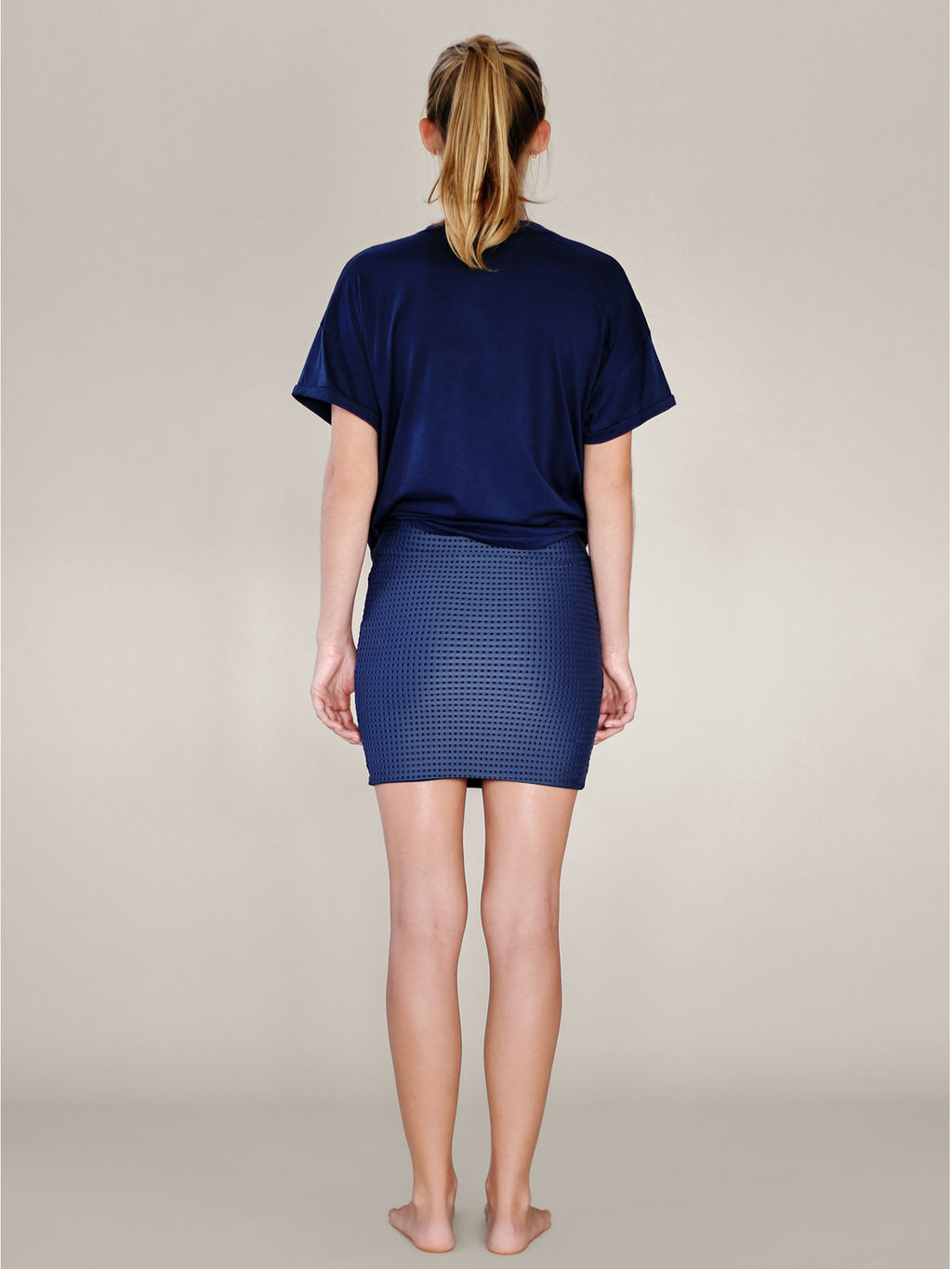 ACACIA Paia Skirt | Denim Mesh