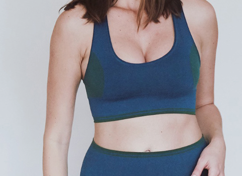 OLYMPIA ACTIVEWEAR Seamless Calla Bra | Oxford/Hunter