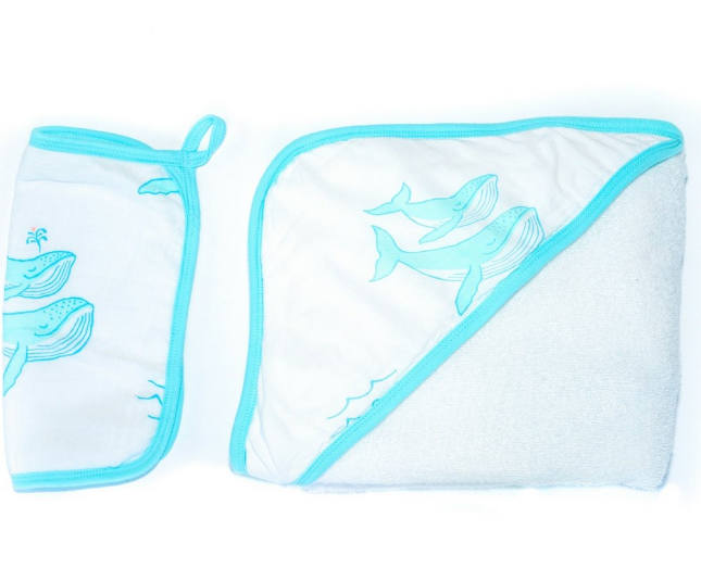COCO MOON Hooded Towel Set | Whaley Cute
