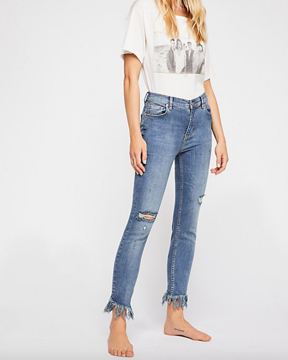 FREE PEOPLE Great Heights | Worn Indigo