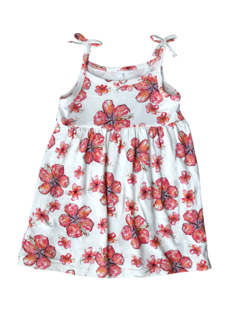 COCO MOON Toddler Dress | Hibiscus