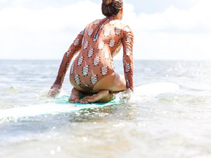 OF ONE SEA Womens L/S Swimsuit | Mountain Flower