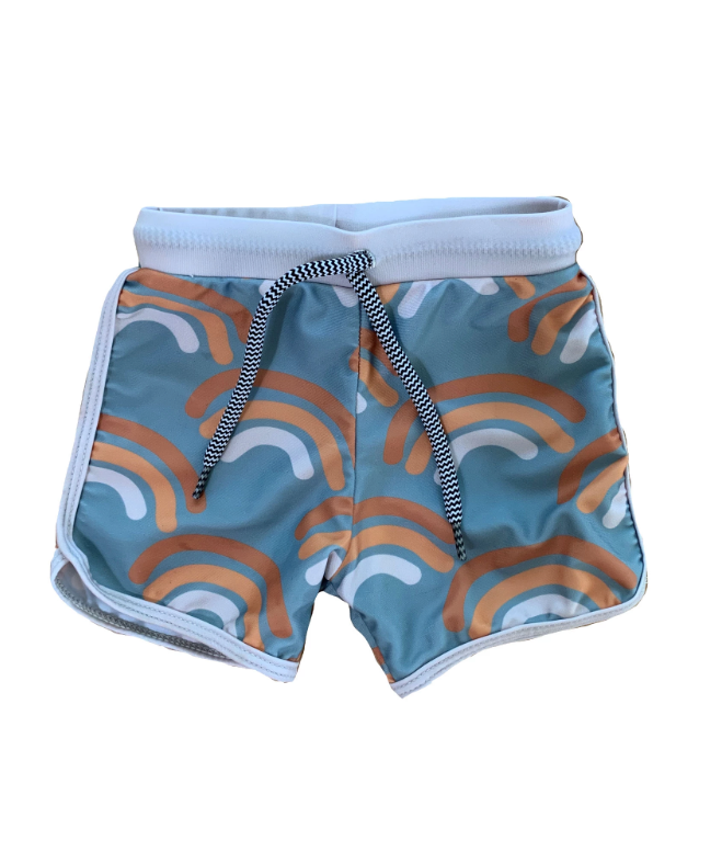 OF ONE SEA Boys Swim Shorts | Rainbow