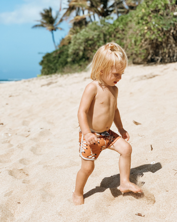 OF ONE SEA Boys Swim Shorts | Mountain Flower