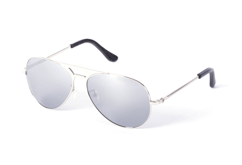 VALLEY EYEWEAR Manubrium | Silver Metal / Silver Mirror Lens