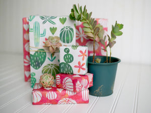 WRAPPILY Gift Wrap | Watercolor Cactus