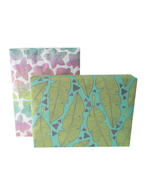 WRAPPILY Gift Wrap | Tropical Leaves / Rainbow Orchids