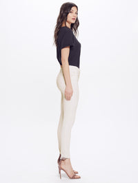 MOTHER High Waisted Looker Ankle Fray | Whipping the Cream