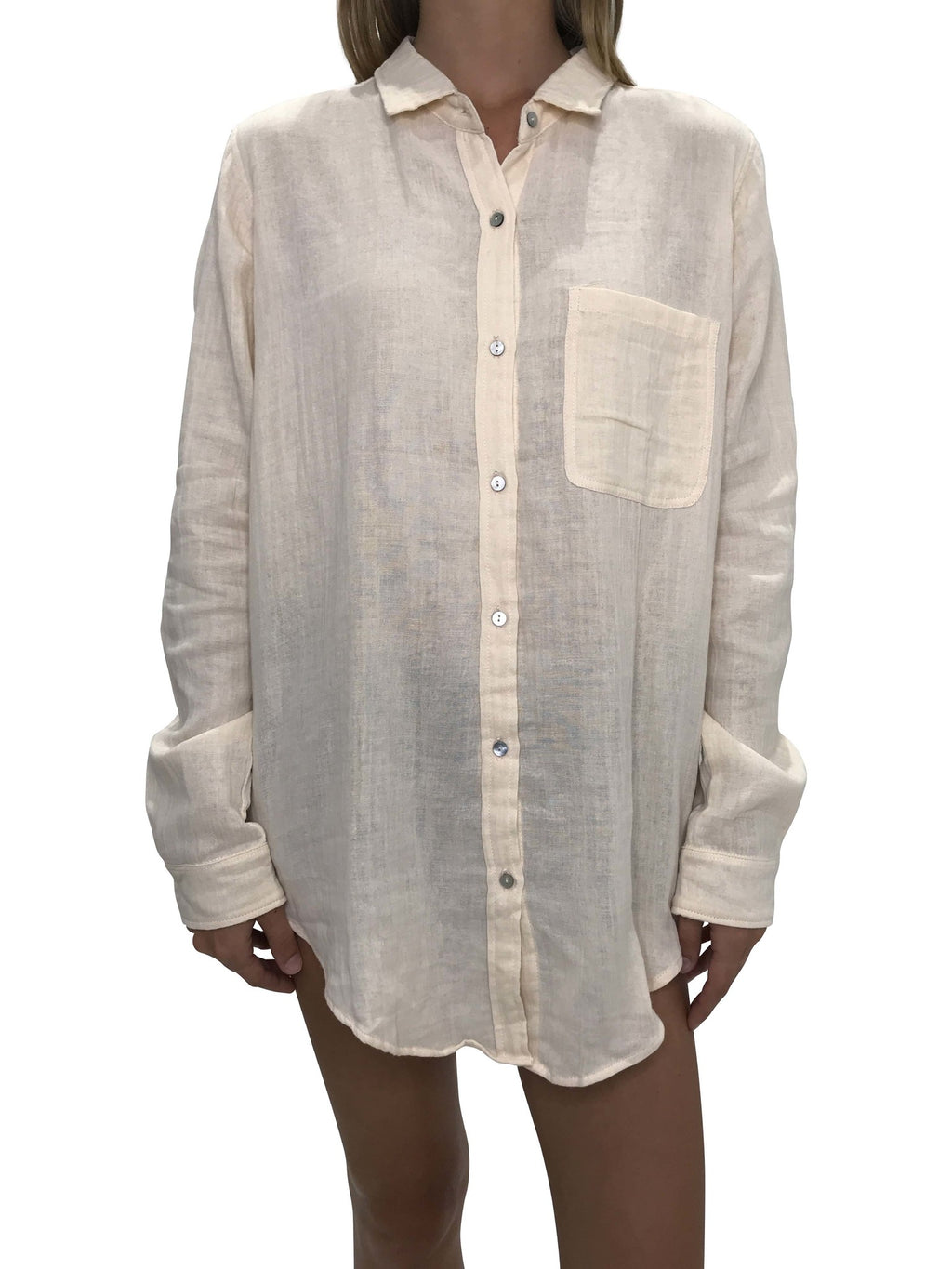 ACACIA Milos Button Up | Vanilla