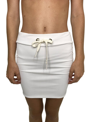 ACACIA Paia Skirt | White Ribbed