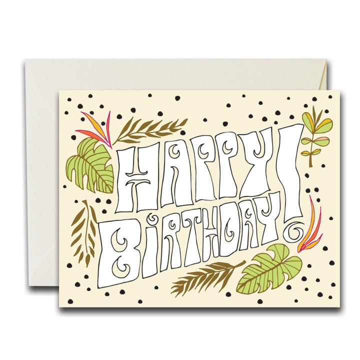 NATIVE BEAR Greeting Card | HBD Tropical