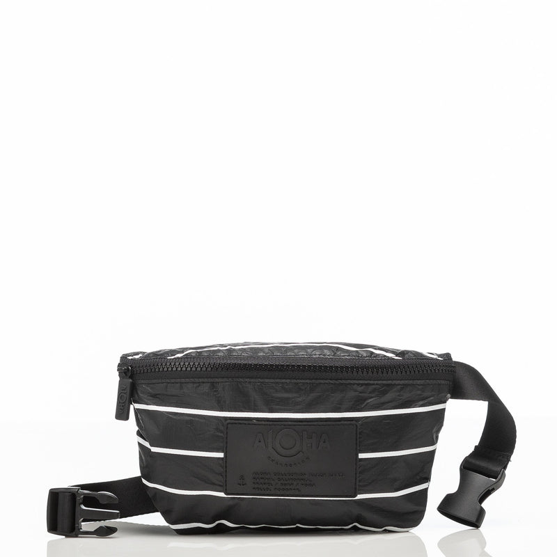 ALOHA COLLECTION Mini Hip Pack | Black Pinstripe
