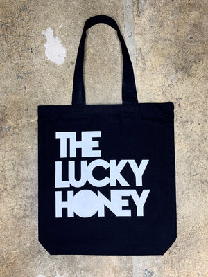 THE LUCKY HONEY Canvas Tote | Black