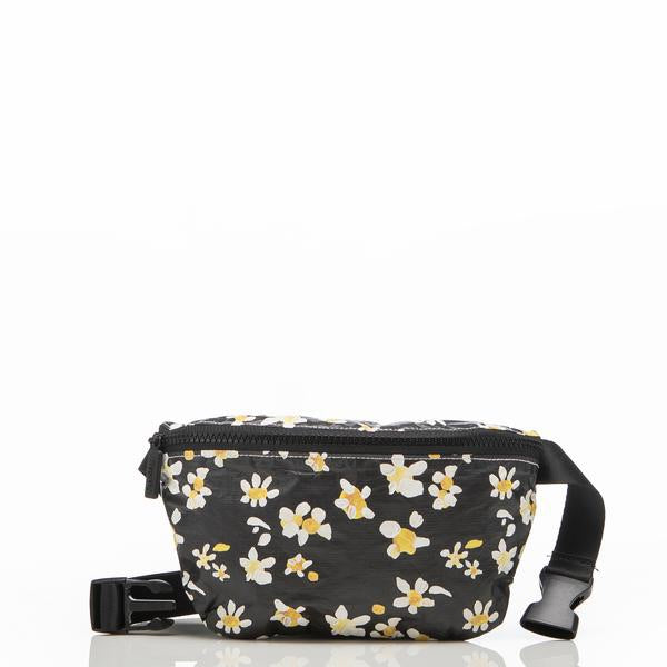 ALOHA COLLECTION Mini Hip Pack | Black Daisy