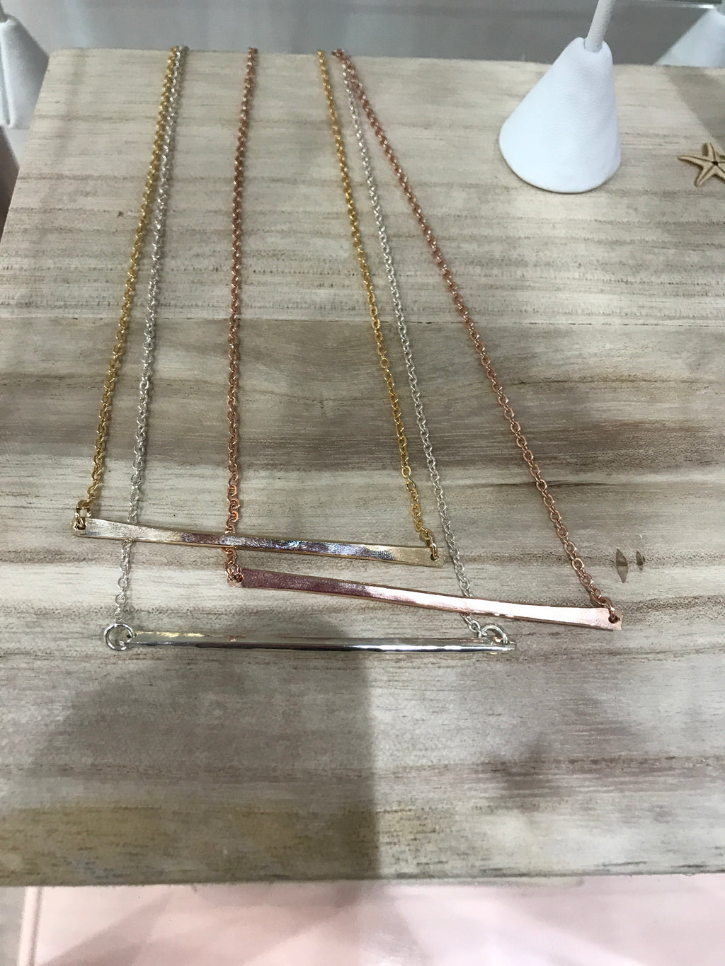Free to Be Me Jewelry Long Bar Necklace