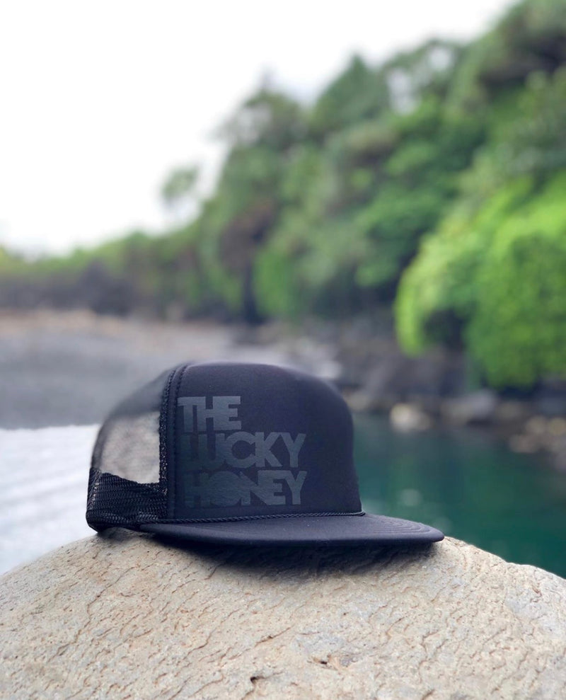 Youth THE LUCKY HONEY Hat | Black/Black