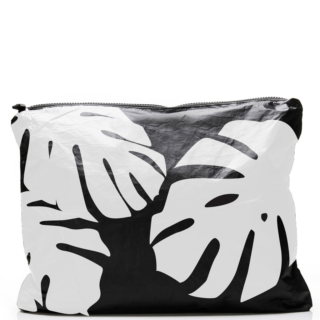 ALOHA COLLECTION Max Monstera | White on Black