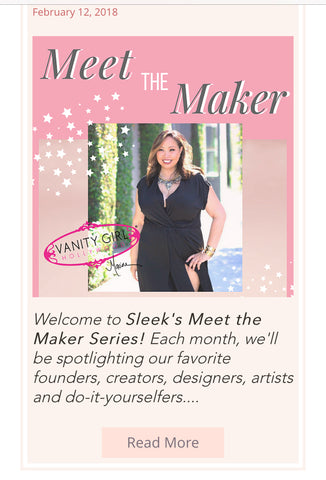 Maxine Tatlonghari on SleekShop.com Meet the Maker female founder boss lady original Hollywood Vanity Mirror