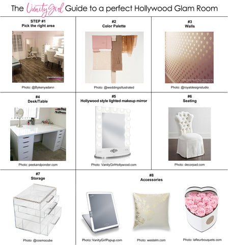A Vanity Girl Guide:  8 Steps to Creating your Hollywood Glam Room