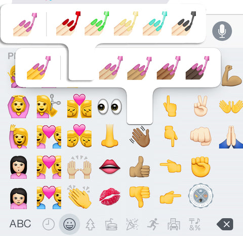 next level nail polish emoji