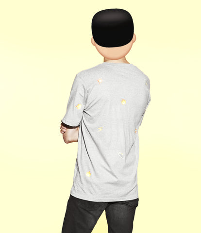 'all fired up' emoji print T-shirt