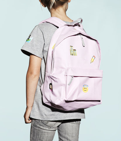 customized emoji print school bag