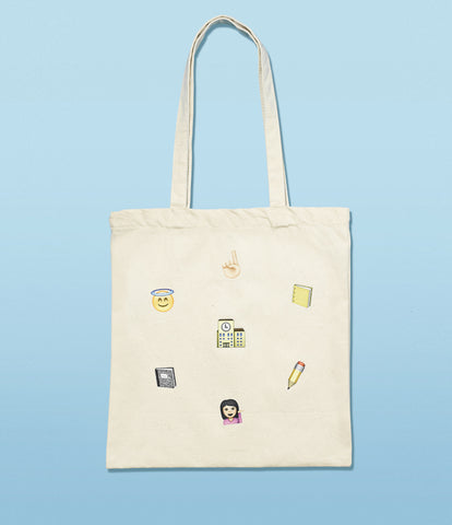 'cool for school' tote bag