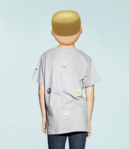 customised emoji print kids tee