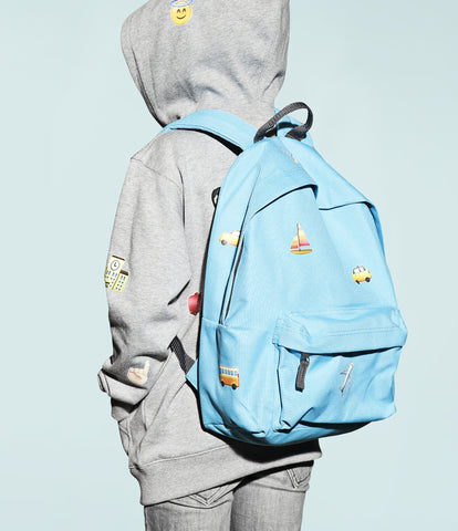 travel emoji print design backpack