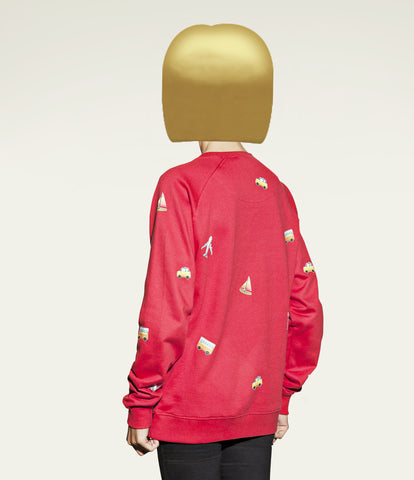 ultimate travelling sweatshirt in emoji print design