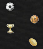 emoji print design - ball and trophy