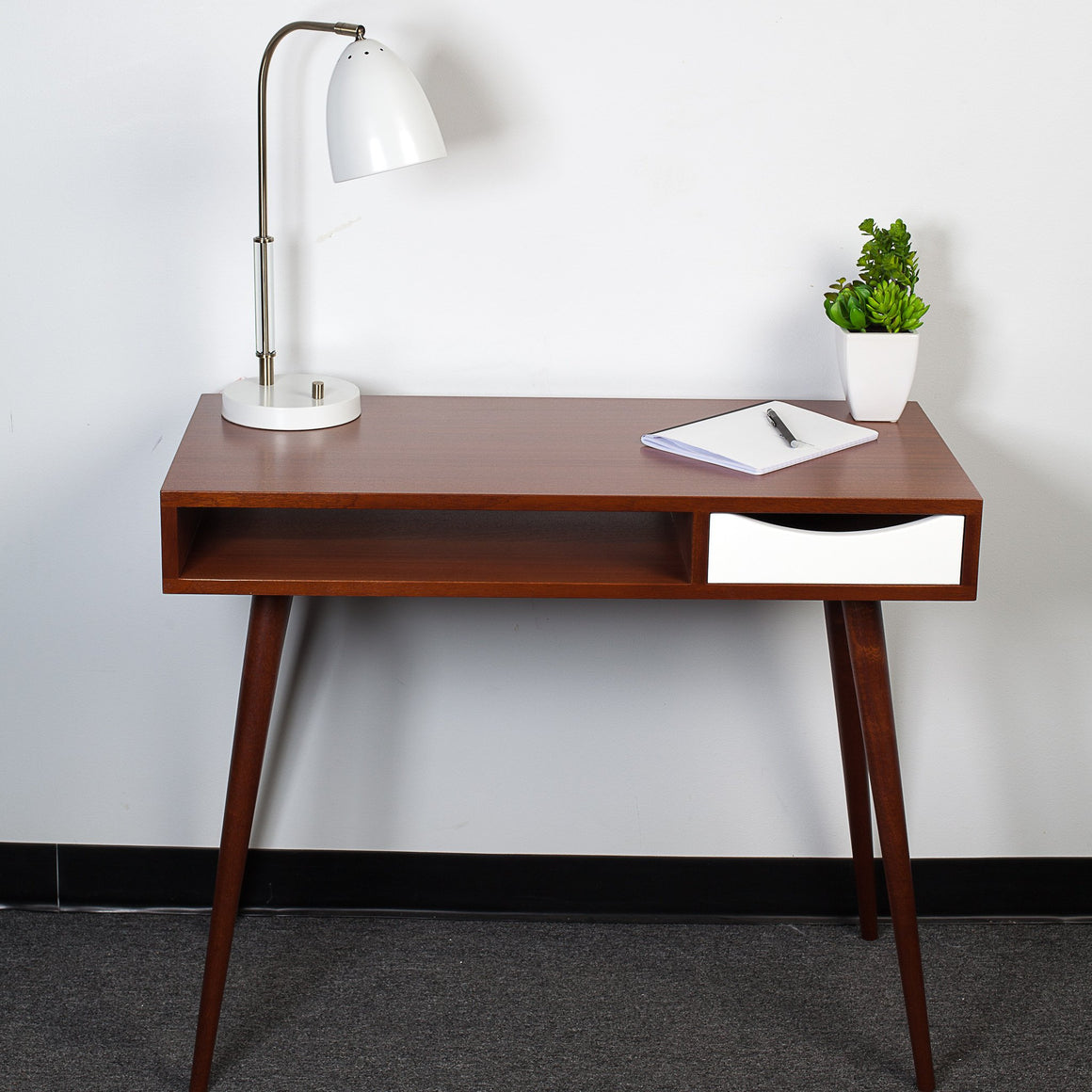 Mid-Century Modern Desk with Drawer - Flint Alley Furniture. Custom Handmade  Mid-Century Modern Furniture