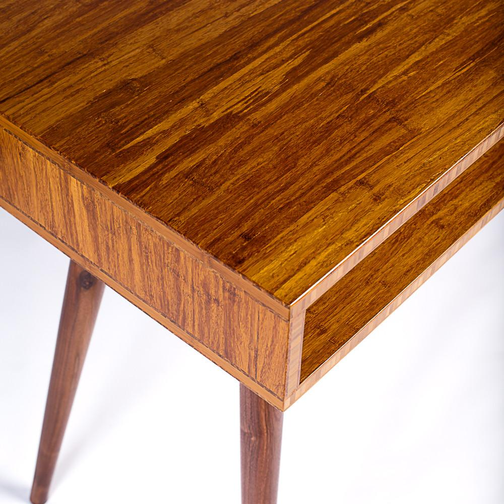 Bamboo Mid-Century Modern Desk - Flint Alley Furniture. Custom Handmade  Mid-Century Modern Furniture