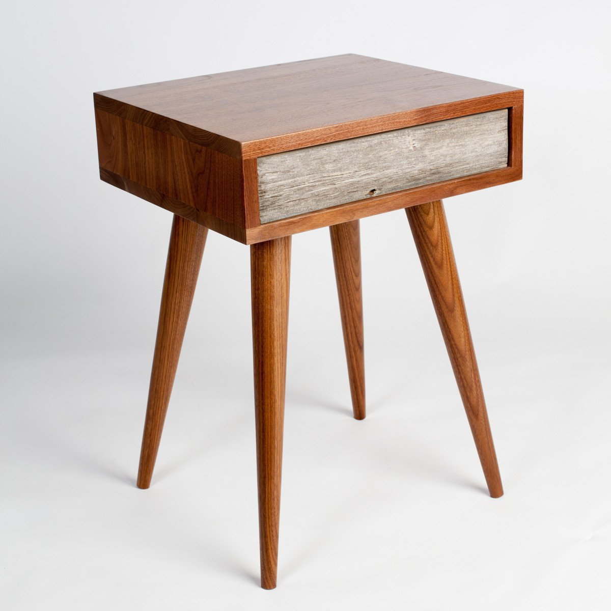Rustic Mid Century End Table / Side Table / Nightstand   Flint Alley  Furniture.