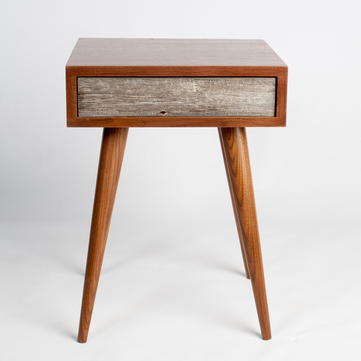 rustic midcentury end table  side table  nightstand  flint  - rustic midcentury end table  side table  nightstand